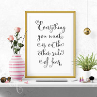 Wall art decor Jack Canfield quote, minimalistic typography  giclée print