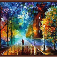 40*50cm DIY landscape oil painting Coloring by numbers on canvas Cuadros decoracion pictures wall art poster With frame