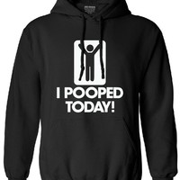 New Mens sweatshirt men I Pooped Today harajuku hoodies funny humor stick Figure Cotton male Graphic man 2017 new autumn