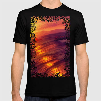 Purple sunset on Ardor planet T-shirt by exobiology