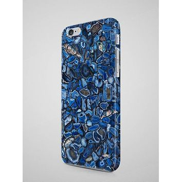 Blue Agate Marble iPhone Case