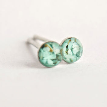 4mm Turquoise Stud Earrings. Tiny Turquoise Studs. Tiny Turquoise Earrings Turquoise Studs Turquoise Stone Earrings Turquoise Post Earrings