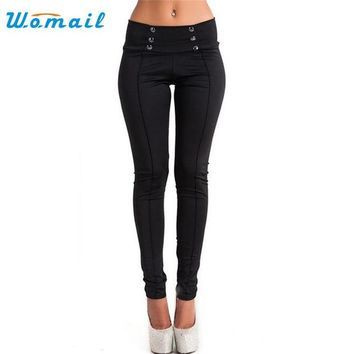 DCCKL3Z Womail Dancing Poppy 2017 New Style Women High Waist Skinny Stretch Pencil Short Pants Long Slim Trousers
