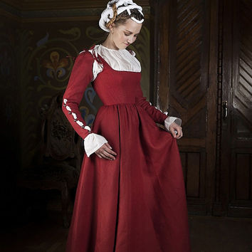 Kirtle Corset Dress - Central Europe Traditional Costume XVI Century