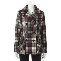Dollhouse Adele Plaid Wool-Blend Double-Breasted Coat