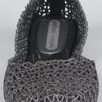 The Campana Papel Shoe in Black Glitter : Melissa Shoes : Karmaloop.com - Global Concrete Culture