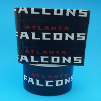 Small Black Atlanta Falcons Men's Wallet - Billfold Wallet - Bifold Wallet - Duct Tape Wallet - Gift Ideas for Men