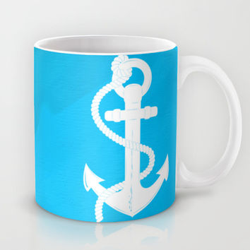 White Anchor Mug by Texnotropio