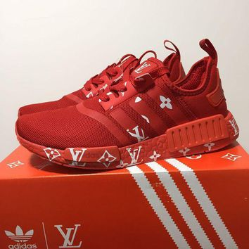Louis Vuitton X Adidas Nmd Boost   Red