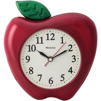 "Westclox 3-dimensional Apple 10"" Wall Clock"