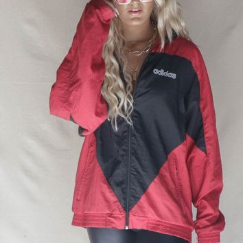 VINTAGE 90s Red Adidas Windbreaker