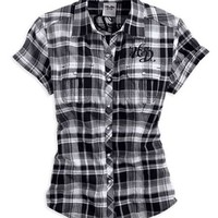 Harley-Davidson® Short Sleeve Plaid Woven Shirt 96183-14VW