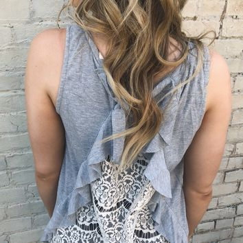 Back Attack Lace Tank