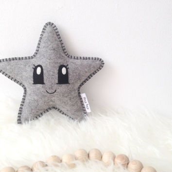 Star Softie, Star Pillow, Baby Shower Gift, Nursery decor, Star Nursery, cute baby gift, baby gift, baby decor, grey nursery, nursery star