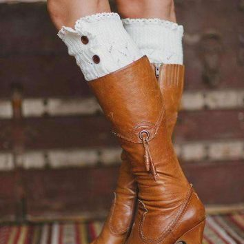 Lacey Leg Warmer Boot Knit Socks