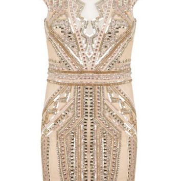 Petites Nude Sequin Bodycon Dress - Apparel - New In