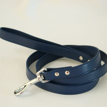 Pet Leash, Navy, Pet accessory, Navy Leather leash