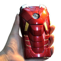 3D Iron Man Mark VII Hard Back Case Assembled Bumper LED Light Armor for iPhone5