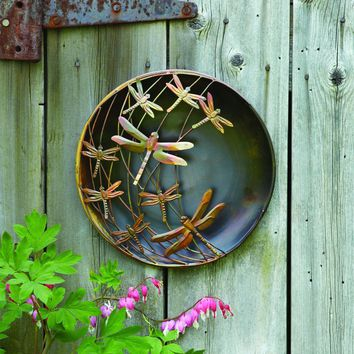Raised Dragonflies Wall Decor Disc