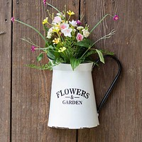 Flowers & Garden Pitcher Wall Container