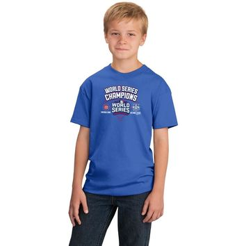 Chicago Cubs 2016 World Series Champions Youth Shirt By Stitches