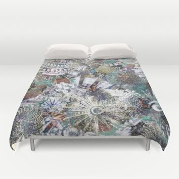 Messages from the Past Duvet Cover by Klara Acel