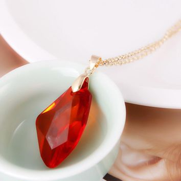 2018 Harri  Time Turner Potter  Magic Stone Necklace Pendants Toy The Philosopher's Stone Red Stones Necklace Colli
