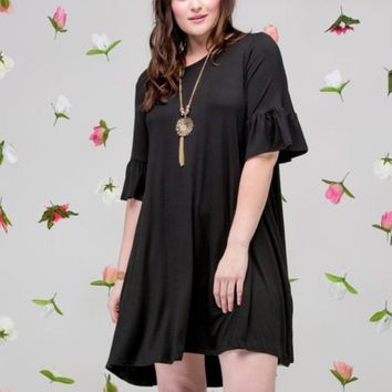 Bell Sleeve Swing Dress