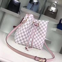 Louis Vuitton Women Shopping bag Leather Satchel Handbag Crossbody Shoulder Bag Two Piece Set
