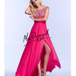 Mac Duggal 10008M Electric Pink Open Back Floor Length Gown 2015 Prom Dresses