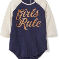 Graphic Baseball Tee for Girls | Old Navy