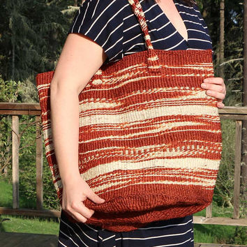 African Sisal Shopping Tote