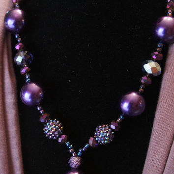 Purple Pearls Necklace