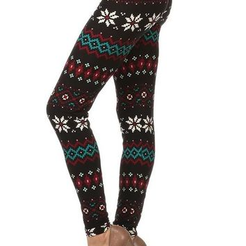 Poinsettia Holiday Leggings