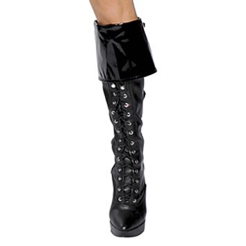 Sexy Vinyl Police Girl Boot Cuffs Halloween Accessory