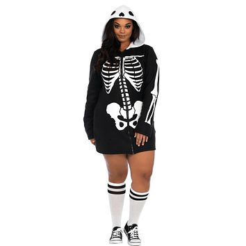 Cozy Skeleton Features Zipper