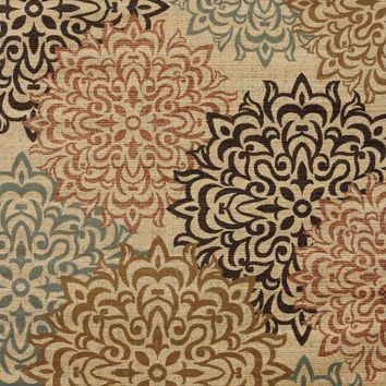 2404 Beige Damask Contemporary Area Rugs