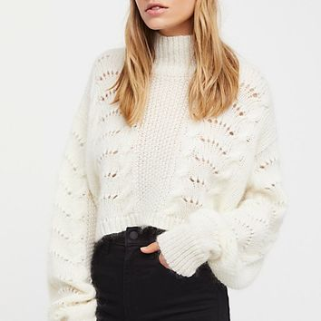 Pointelle Pullover