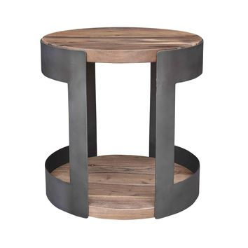 April Industrial Chic Side Table