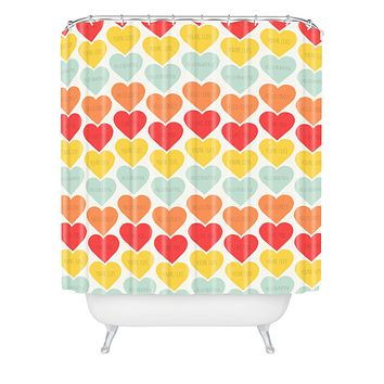 Allyson Johnson Cute Little Hearts Shower Curtain