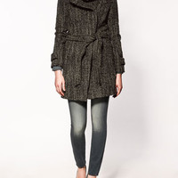 COAT WITH WRAPAROUND COLLAR - Collection - Coats - Collection - Woman - ZARA Canada