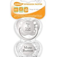 Ulubulu Expression Pacifier Set, Unisex, Pull to Sound Alarm and Mute Button, 0-6 Months