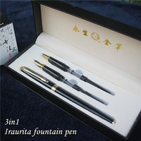 3 in 1 fountain pen with gift box Birthday gift pen Good quality luxury iraurita fountain pens free shipping