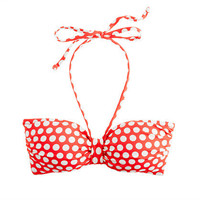 Graphic dot padded bandeau top - patterns & prints - Women's swim - J.Crew