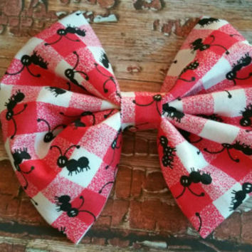 Extra large hairbow, spring hairbow, picnic hairbow
