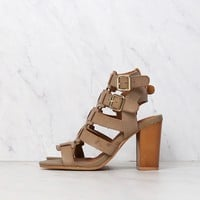 on the go double buckle sandal - taupe