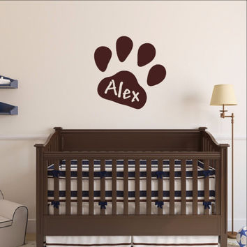 Personalized Paw Print Wall Decal 22546