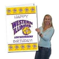 Western Illinois University 2'x3' Giant Birthday Greeting Card Plus Yard Sign