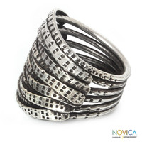 Sterling Silver 'Forest Harmony' Ring (Thailand)   Overstock.com