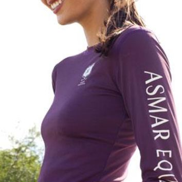 Asmar Long Sleeve T  Plum